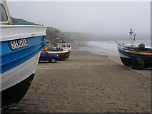 TA1280 : Filey: slipway at Coble Landing by Chris Downer