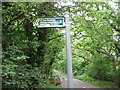 TL2900 : Coopers Lane and footpath sign by Bikeboy