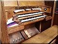 SK9569 : Organ Console, Church of the Holy Cross by J.Hannan-Briggs