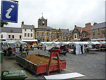NU1813 : Alnwick Townscape : The Market Square, Alnwick by Richard West
