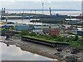 ST3185 : A view across Newport Docks by Robin Drayton
