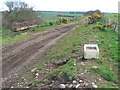 NO8184 : Recycled Belfast sink at side of track to Garberstrypes by Liz Gray