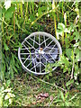 NZ3071 : Discarded Wheel by Christine Westerback