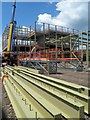 SP1585 : Structural steel being erected by Steve  Fareham