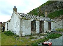 NX0299 : Old Tea Room on Ailsa Craig by Mary and Angus Hogg