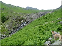 NY2807 : Waterfall, Stickle Ghyll by Michael Graham