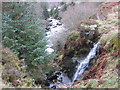 NY7481 : Waterfall on Unnamed Sike near Jerry's Linn by Les Hull