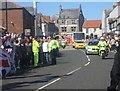 NT9952 : The first vehicles in the convoy -  Olympic torch relay (5) by Graham Robson