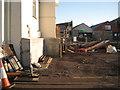 SX9372 : Flood wall for the New Quay Inn by Robin Stott
