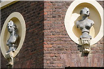 TQ1773 : Busts on Ham House by Philip Halling