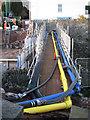 SX9373 : Temporary services bridge, Fore Street by Robin Stott