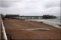 TQ8109 : Hastings beach and pier by Steve Daniels