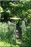 ST5906 : Stockwood: entrance to St Edwold's churchyard by Martin Bodman