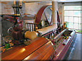 SJ8383 : Horizontal Steam Engine, Quarry Bank Mill Textiles Museum by David Dixon