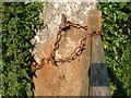 SX6888 : Gate fastening near Murchington by Derek Harper
