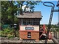 TQ8833 : Signal box - Tenterden Town Station by Paul Gillett
