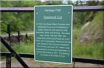 NS2472 : Heritage path information sign, Greenock Cut by Jim Barton