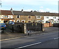SS8591 : Ornate gates, Talbot Terrace, Maesteg by Jaggery