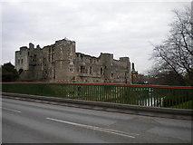 SK7954 : Newark Castle from Trent Bridge by Richard Vince