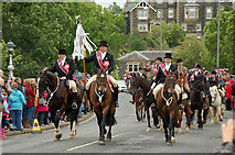 NT2540 : Riders at Peebles Beltane Festival by Jim Barton