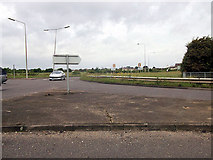 TA1914 : Kings Road roundabout looking towards Immingham by John Firth