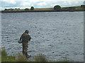 NY9619 : Angling at Hury Reservoir by Karl and Ali