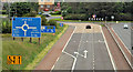 J3084 : The A8(M), Newtownabbey (2) by Albert Bridge