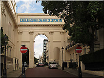 TQ2882 : Arch at the south end of Chester Terrace by Stephen Craven