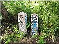 TQ2883 : Parish boundary stones by Stephen Craven