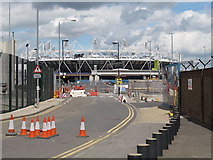TQ3783 : Pudding Mill Lane, security barriers by Stephen Craven