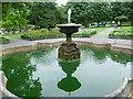 TQ2664 : The fountain in Manor Park, Sutton by Marathon