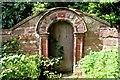 SJ3971 : Georgian Doorway in St Oswald's Churchyard, Backford by Jeff Buck