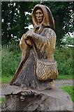 SD4464 : Shrimp Lady, Morecambe Cemetery by Ian Taylor