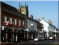TQ3937 : Looking along East Grinstead High Street - it seems there always has to be one .... by Ed of the South