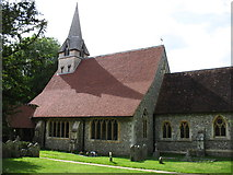 SU3940 : St Peter and Holy Cross church, Wherwell by David Purchase