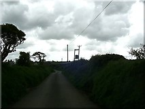 SM8331 : Bend in the road  near Llanon by Martyn Harries