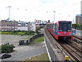 TQ4080 : DLR west of Silvertown by Stephen Craven