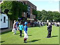 TL6161 : The July Course, Newmarket - Jockey walking to the parade ring by Richard Humphrey