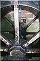 SJ4553 : Stretton Mill, waterwheel by Chris Allen