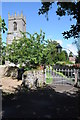 SP0849 : Entrance to Cleeve Prior church by Philip Halling