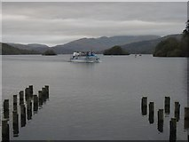 SD4096 : Pleasure boat approaching Bowness On Windermere by Graham Robson