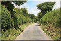 SW8859 : Luke Shop lane looking towards White Cross by roger geach