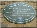 TQ2472 : Historic plaque at Wimbledon by Basher Eyre