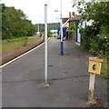 ST5475 : Milepost 6, Sea Mills railway station, Bristol by Jaggery