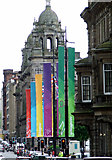 NS5965 : Olympic banners in George Square by Thomas Nugent