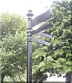 NJ8307 : An attractive finger-post at Westhill Shopping Centre by Stanley Howe