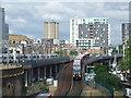 TQ3380 : DLR at Royal Mint Street by Malc McDonald