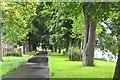 SO0351 : Riverside path, Builth Wells by Jim Barton