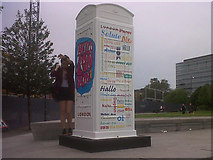 TQ3380 : Artbox at Potters Field by Stephen Craven