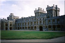 SU9777 : Lawn in the Upper Ward at Windsor Castle by Ruth Riddle